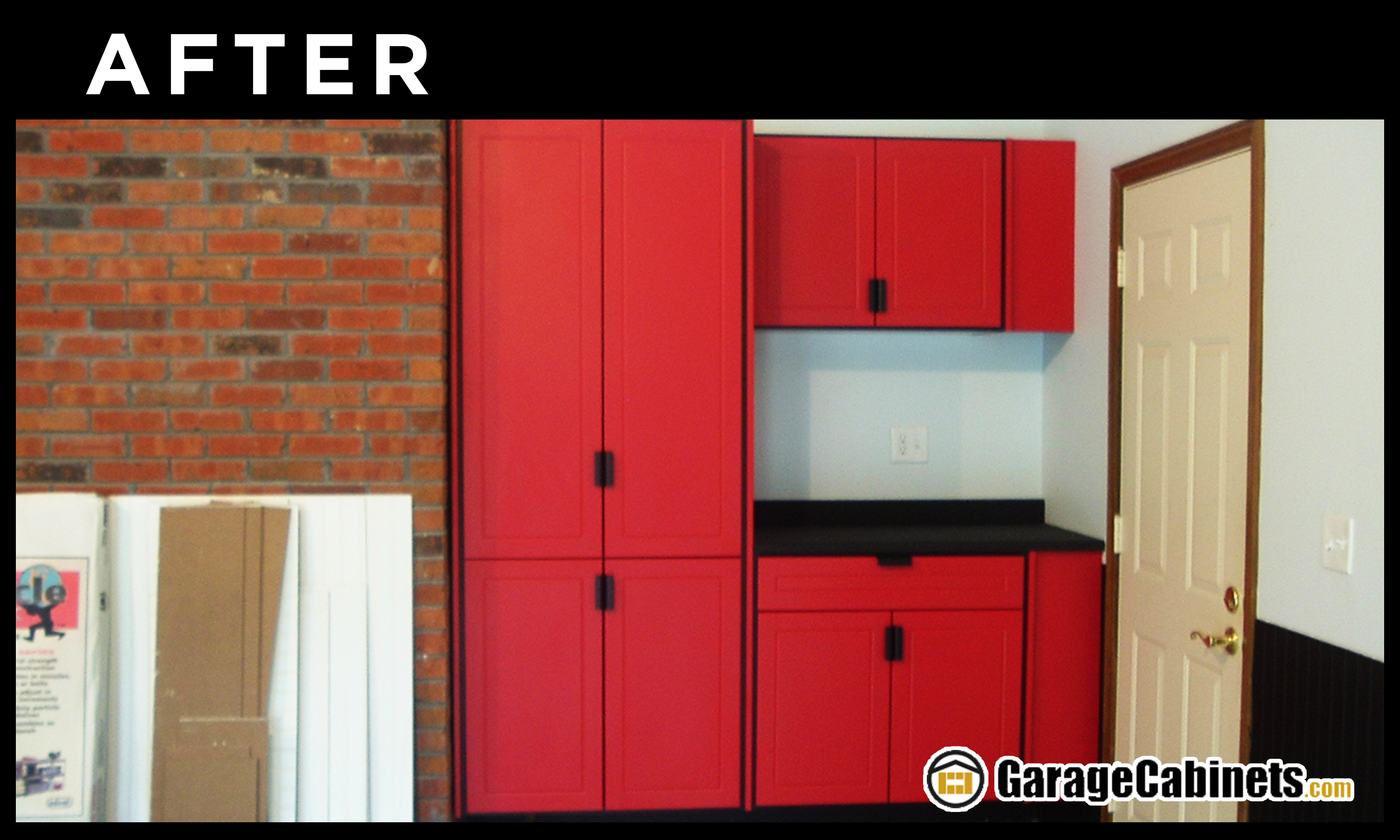 Total organization in this new garage makeover after photo.