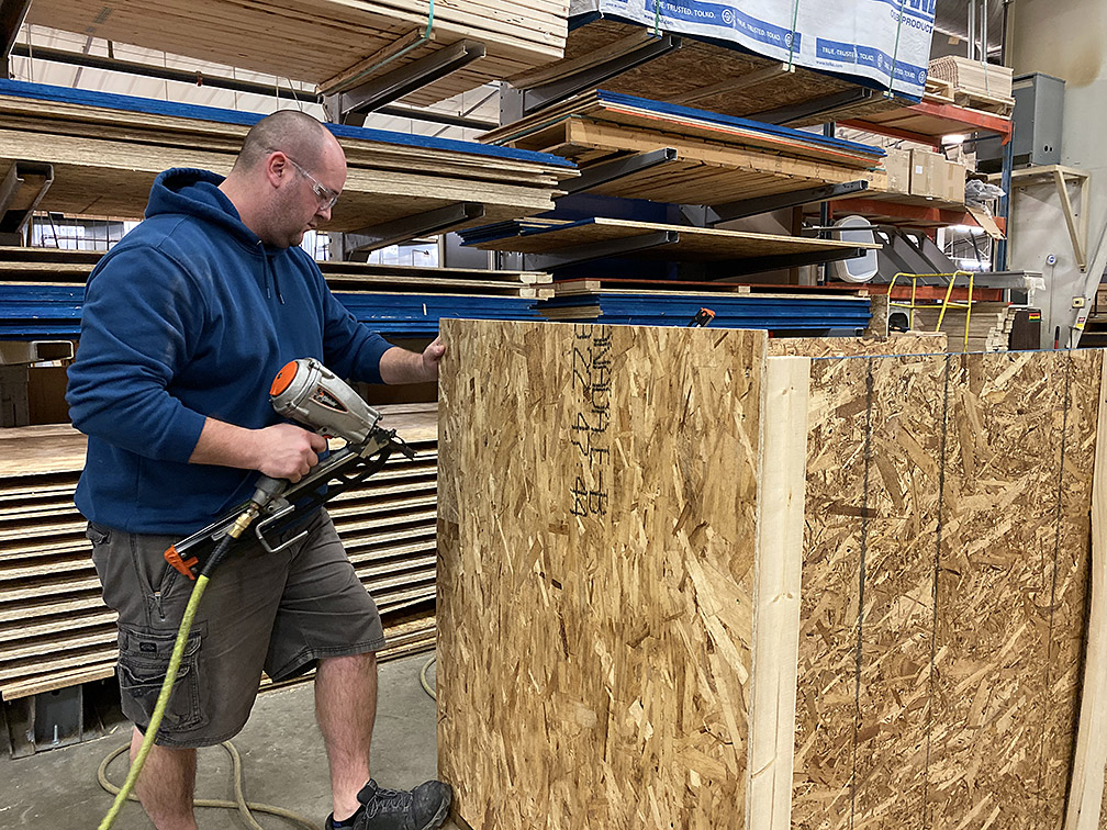 Crating cabinets for shipping